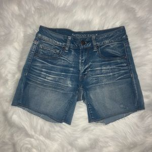 American eagle midi jean shorts SSS size 6